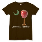 Carolina Teacher Apple Palmetto Moon T-Shirt
