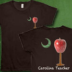 Carolina Teacher Palmetto Moon Two-Sided Deluxe Shirt