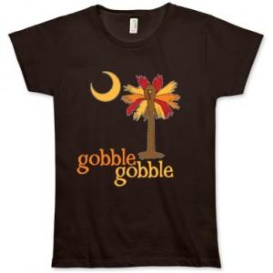 Gobble Gobble Turkey Palmetto Moon Shirt