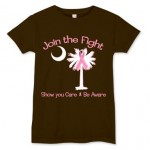 Join the Fight Pink Ribbon Palmetto Moon Shirt