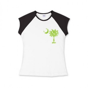 Lime Green Polka Dot Palmetto Moon Shirt