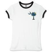 Starry Night Palmetto Pocket Print Women's Ringer Shirt